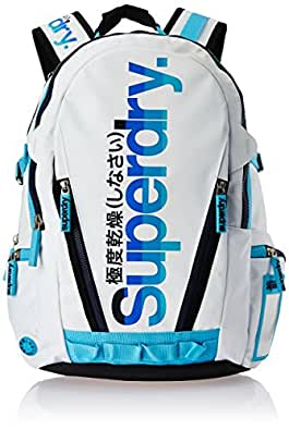 Superdry California Tarp Backpack Unisex Shoulder Bag (White)