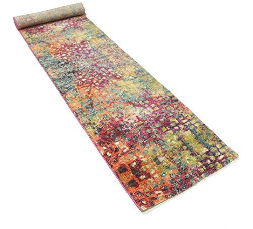 FeelGoodRugs 80 x 400 cm Davina Modern Runner Carpet Rug, Brown