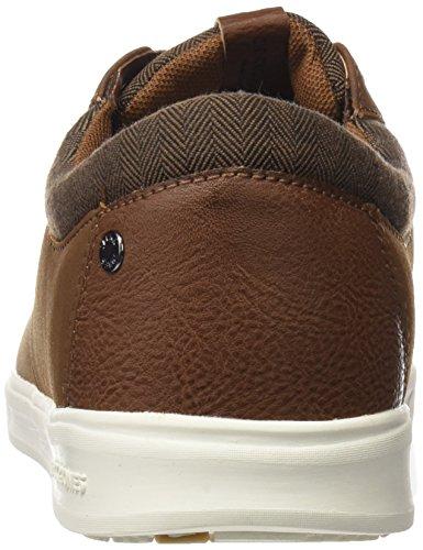 JACK & JONES Herren Jfwgaston PU Combo Cognac Sneaker Braun (Cognac)