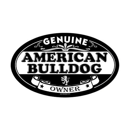 CafePress–American Bulldog Oval Aufkleber–oval Bumper Sticker KFZ Aufkleber, weiß, Large - 4.5x7.5
