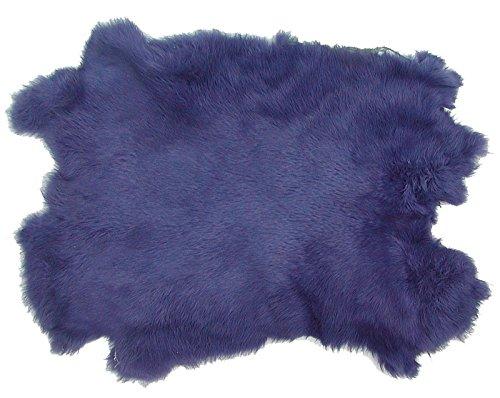 Ensuite Kaninchenfelle Lavendel gefärbt, ca. 30x30 cm, Felle vom Kaninchen mit seidigem Haar - Kaninchen Lavendel