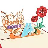 Schöne 3D Pop Up Grußkarte für Mama