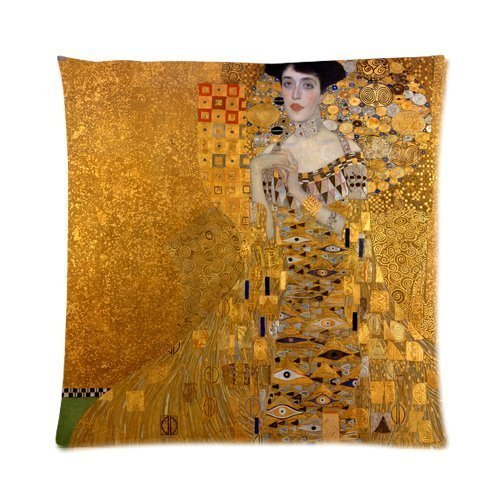 Custom The Lady in Gold The Extraordinary Tale of Gustav Klimt's Masterpiece Portrait of Adele Bloch-Bauer Throw Square 18