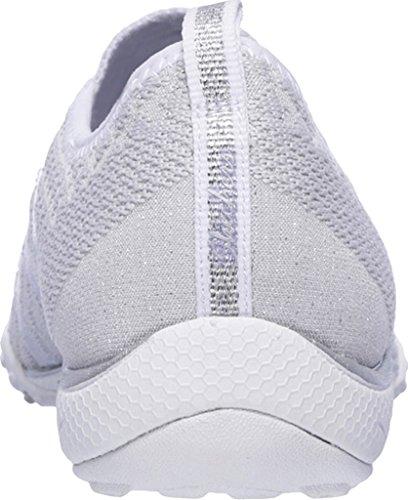 Skechers Breathe Easy Fortune, Sneakers Basses Femme White/Silver