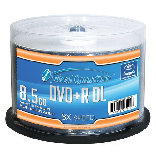 Optical Quantum OQDPRDL08WIP 8.5GB DVD+R DL 50piezas