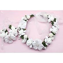 OKBO Flor corona diadema corona Floral Garland de la mujer niña blanco