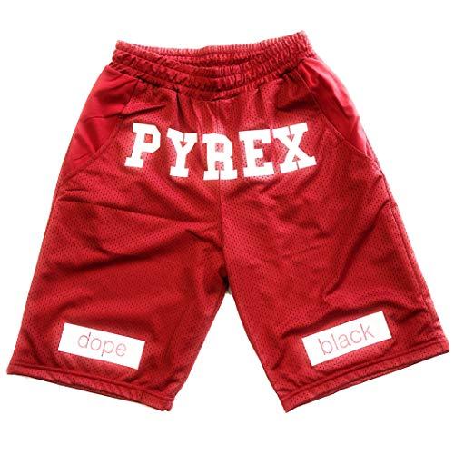 Pyrex 19epb34210 bermuda unisex in rete stampato rosso (l)