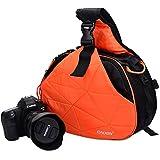 Caden Cross Sac Triangle sacoche de transport pour appareil photo reflex numérique Sony Canon Rebel PowerShot, Nikon Coolpix, Kodah, Olympus, Pentax, Sony avec trépied support