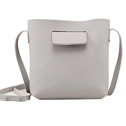 Familizo Borsa a tracolla delle borse piccole di Tote della borsa della borsa di modo delle donne Grigio