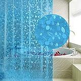 Carttiya Duschvorhang Anti-schimmel, EVA Badewanne Vorhang 180x 200 cm, Nicht Gerüche,BPA-frei,Wasserdicht,Antibakteriell,Blau