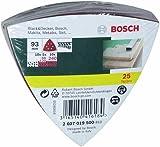Bosch 25 Delta Sanding Sheets Mixed, 60-240 Grit