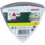 Bosch Zubehör 2607019500 25-teiliges Schleifblatt-Set für Delta-Schleifer, Körnung 60 - 240