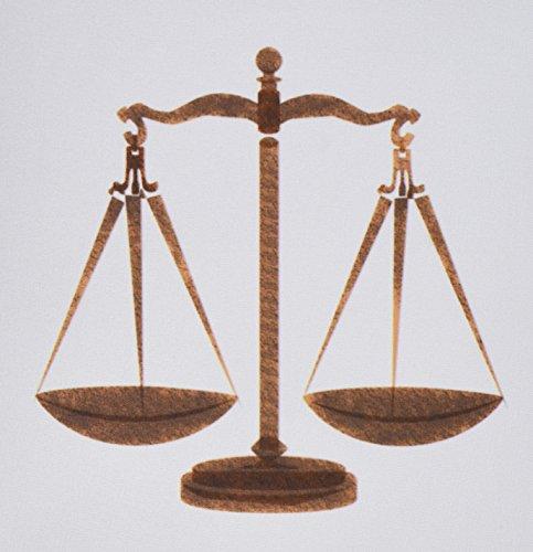 3drose LLC 20,3x 20,3x 0,6cm Maus Pad, Bild von Antik Braun Skala von Justice-(MP 180655_ 1) (Braun-skala)