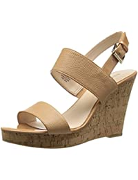 Nine West Women S Lucini Synthetic Wedge Pump Natural/Natural 8 B(M) US