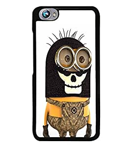 Fuson Premium 2D Back Case Cover Mimo With Multi Background Degined For Micromax Canvas Fire 4 A107