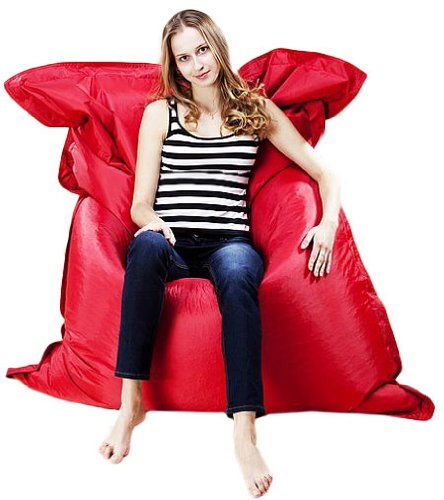 Puregadgets C XXXL Extra Large Adult Beanbag Cushion Sofa Chair Pod Seat Bean Bag Available In Red Amazoncouk Kitchen Home