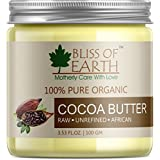 [Sponsored Products]Bliss Of Earth™ 100% Pure Organic Cocoa Butter | Raw | Unrefined | African | 100GM | Great For Face, Skin, Body...