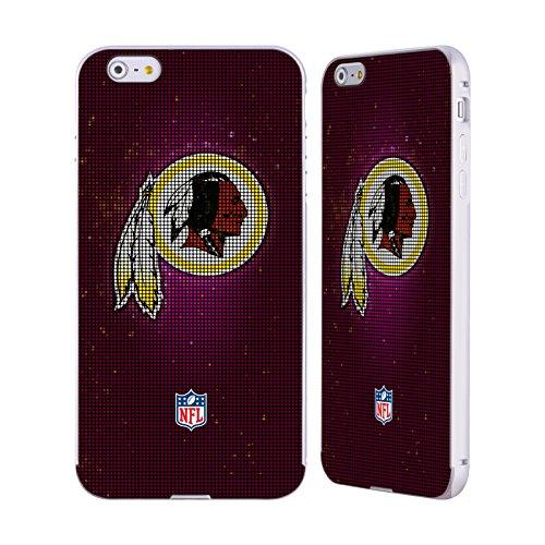 Ufficiale NFL Pattern 2017/18 Washington Redskins Argento Cover Contorno con Bumper in Alluminio per Apple iPhone 5 / 5s / SE LED