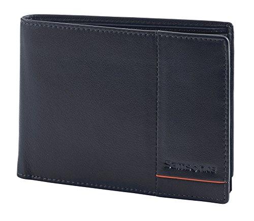 SAMSONITE Outline 2 SLG Billfold für 9 Kreditkarten, 2 Compartments + Vertical Flap, 13 cm, Night Blue/Chili