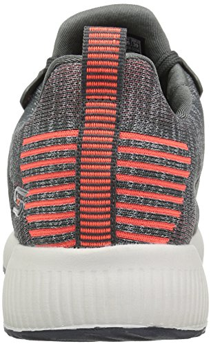 Skechers Bobs Squad-Double Dare, Baskets Enfiler Femme Anthracite / Orange