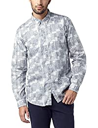 Pioneer Herren Freizeithemd All Over Print Shirt