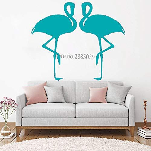 guijiumai Adesivo murale Amore Fenicottero per Camera da Letto murales Arte Coppia Animali Poster Fai da Te Autoadesivo attaccabile Rimovibile Decalcomania Impermeabile L 3 M 67 cm x 56 cm