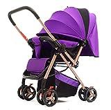 GFGF Leichter Faltbarer sitzbarer stützender Kinderhandstoßregenschirm Zweiwegkinderwagen des Kinderwagens,1#
