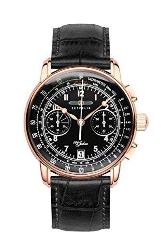 Zeppelin Montres Homme - Bracelet en cuir & résine 7676-2