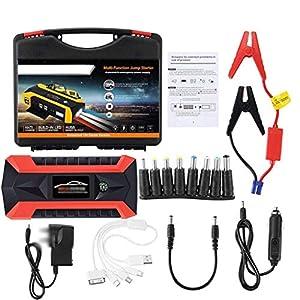 HAGZ 20000mAh 12V 4 USB Car Jump Starter Pack, Cargador de Refuerzo Banco de energía de la batería aplicado a teléfonos móviles portátiles, tabletas, PC, cámaras y Otros Equipos electrónicos.
