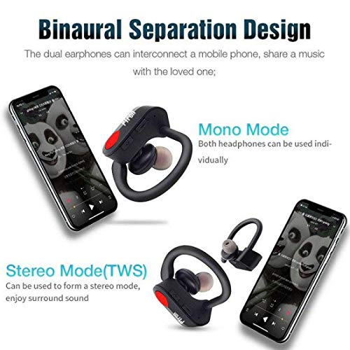 pTron Twins Pro in-Ear True Wireless Bluetooth Headphones (TWS) with Mic - (Black) Image 7
