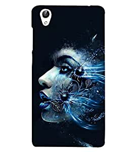 PrintVisa Floral Facet 3D Hard Polycarbonate Designer Back Case Cover for vivo Y51 :: Vivo Y51L