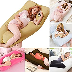 PetHot 9Ft/12Ft Maternity Pregnancy Pillow U Shape Full Body Back Bolster Support With Free Pillowcase