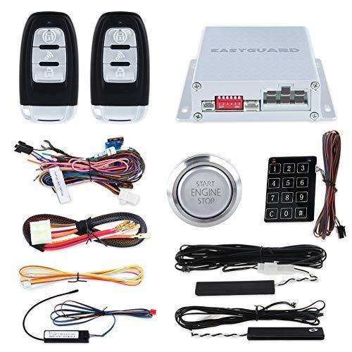 EasyGuard Auto Alarm PKE Passive Keyless Entry Fernbedienung Starter Keyless Go Passwort Eintrag Nähe Verriegelungs Entsperren ec002-p3