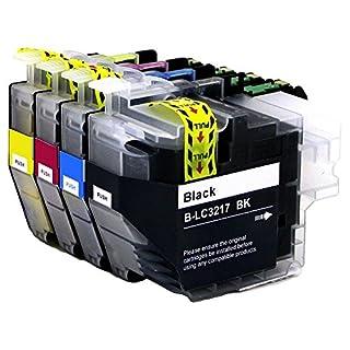 ASW (1 Satz) Kompatible Tintenpatronen Ersatz für Brother LC3217 LC-3217 LC-3217C LC-3217M LC-3217M MFC-J5330DW MFC-J5330DW MFC-J5330DW MFC-J5930DW MFC-J6530DW MFC-J6930DW MFC-J6935DW Drucker