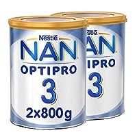 Nestle NAN OPTIPRO Stage 3, 1 to 3 years, Powder Milk Tin, 800g (2 Tins)