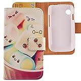 Lankashi PU Flip Leder Tasche Hülle Case Cover Schutz Handy Etui Skin Für Wiko Ozzy Lovely Design