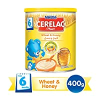 Nestle Cerelac Infant Cereal Wheat & Honey - 400G Tin, 12265585
