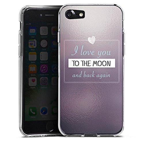 Apple iPhone X Silikon Hülle Case Schutzhülle Liebe Freundschaft Statement Silikon Case transparent
