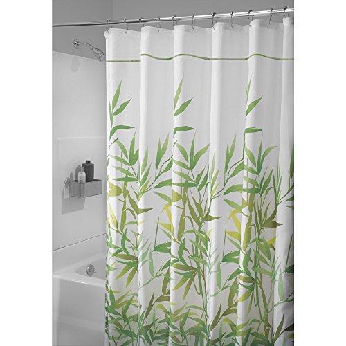 mDesign Duschvorhang Anti-Schimmel - 180 cm x 200 cm - grüner Dusch- & Badewannenvorhang - Duschvorhang wasserabweisend - 12 verstärkte Knopflöcher