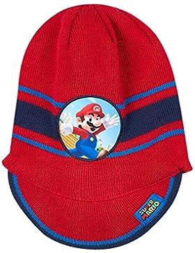 Nintendo Super Mario Bros Chicos Gorro de Lana - Rojo
