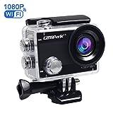 Campark ACT68 Action Cam 2.7K WiFi Full HD 1080P 12MP Action Camera Impermeabile Videocamera con Lenti Grandangolo 170 e Batteria Ricaricabile, include Custodia Subacquea 30M immagine