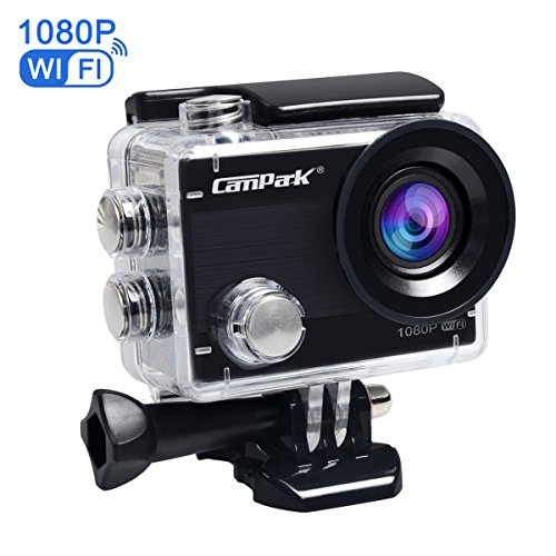 Campark ACT68 Action Cam 2.7K WiFi Full HD 1080P 12MP Action Camera Impermeabile Videocamera con Lenti Grandangolo 170 e Batteria Ricaricabile, include Custodia Subacquea 30M