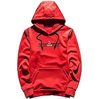 El otoño y el invierno sweater suéter con capucha Ocio Deportes de los hombres suéter de Corea Jumper,Rojo,Xl