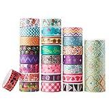 Best 4M Kid Art Supplies - AUFODARA 25 Rolls-Set Mix Designs Washi Masking Tape Review