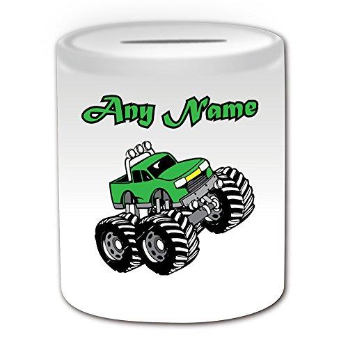 Personalisierter Geschenk-Green Monster Truck Spardose, Design