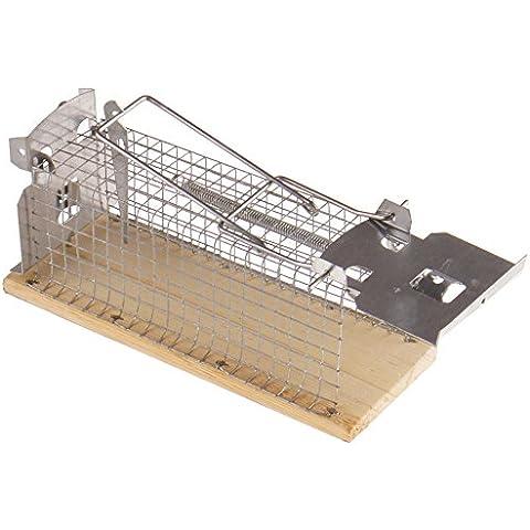 Trappola per topi vivi Proheim–Trappola per Mause 15cm tierfreundliche Trappola per cassetta metallica con 1ingresso igienica–Trappola