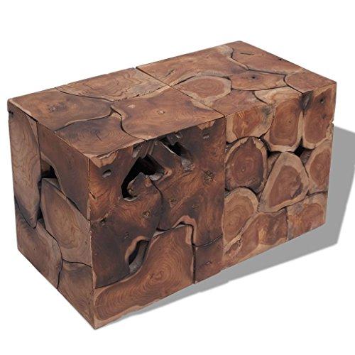 Luckyfu Dieser Barhocker/Beistelltisch aus massivem Holz 2Pz.Der Hocker ist leicht und leicht zu...