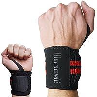 MACCIAVELLI – Handgelenkbandagen [2er Set] mit Adaptive Stretch und Easy FIT Schlaufe – Wettkampf Wrist Wraps... preisvergleich bei billige-tabletten.eu