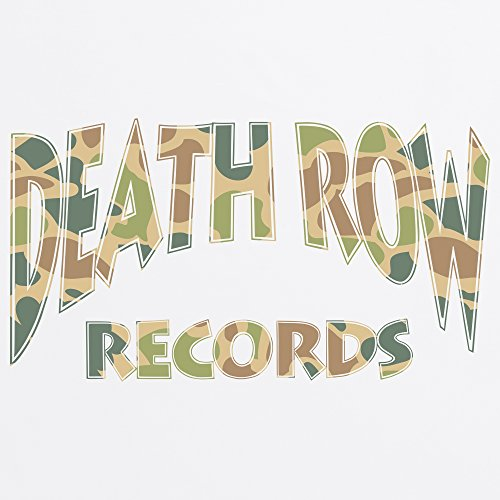 Official Death Row Records Camo Green Logo T-Shirt, Herren Wei