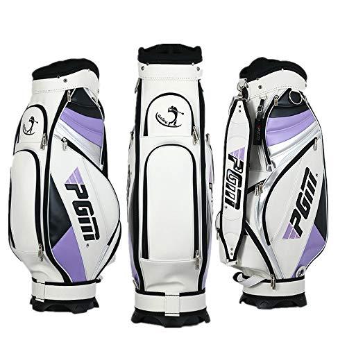 YCGJ Superleichte Golf-Standardtasche und kann 13 Schläger installieren, Wasserdichte PU Lady Golf Cart Bag,Purple (Bag Cart Lady)